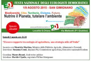 """""""IL NUOVO RAPPORTO TRA ECOLOGIA E AGRICOLTURA, UNA STRATEGIA UTILE ALL'ITALIA"""""""
