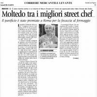 MOLTEDO TRA I MIGLIORI STREET CHEF