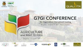 G7GI CONFERENCE DI BERGAMO SULLE INDICAZIONI GEOGRAFICHE