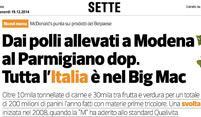 DAI POLLI ALLEVATI A MODENA AL PARMIGIANO DOP. TUTTA L'ITALIA È NEL BIG MAC