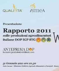 Dispense Anteprima DOP e Rapporto Qualivita Ismea 2011