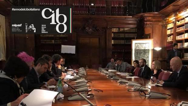 2018 ANNO DEL CIBO ITALIANO: PRIMA RIUNIONE DEL COMITATO TECNICO