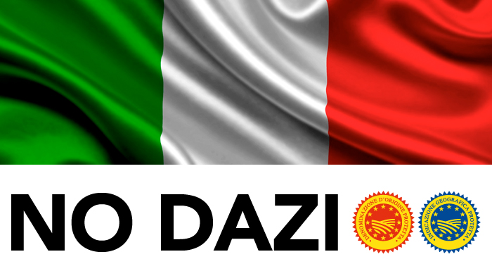 APPELLO DELLE IMPRESE AGROALIMENTARI E VITIVINICOLE ITALIANE DOP IGP CONTRO I DAZI