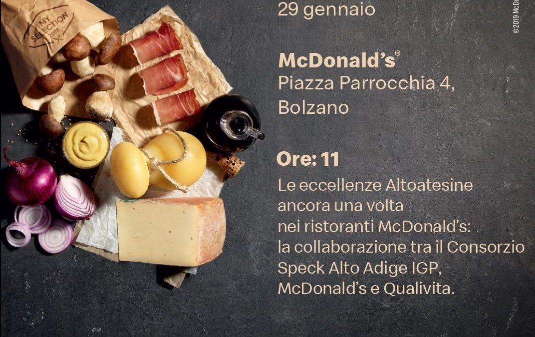 PRESENTAZIONE A BOLZANO CON MCDONALD'S, QUALIVITA E CONSORZIO SPECK ALTO ADIGE IGP