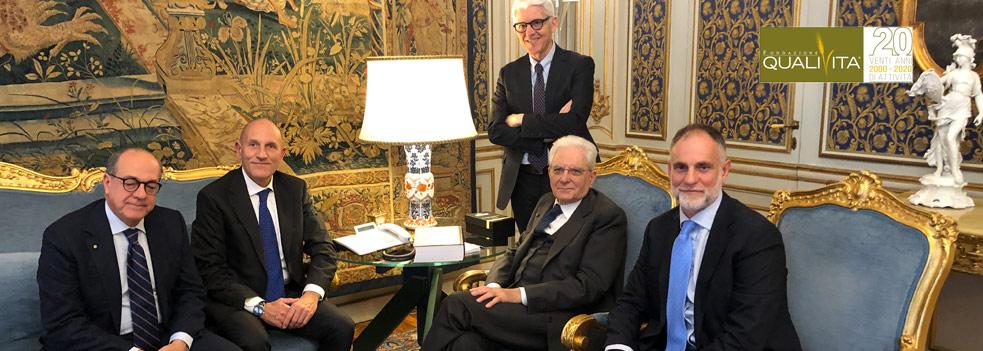 Fondazione Qualivita incontra il <b>Presidente Mattarella</b>